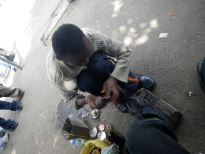 shoe shine boy
