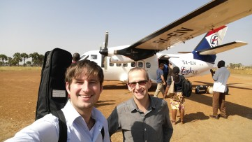 Touching down in Yei, South Sudan (2015)